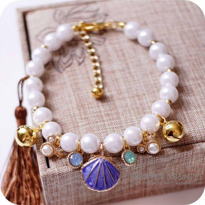Collier princesse perle pour animaux de compagnie accessoires pour chiots chiens chats petits animaux bijoux de mariage petit chiot produits pour Yorkshire