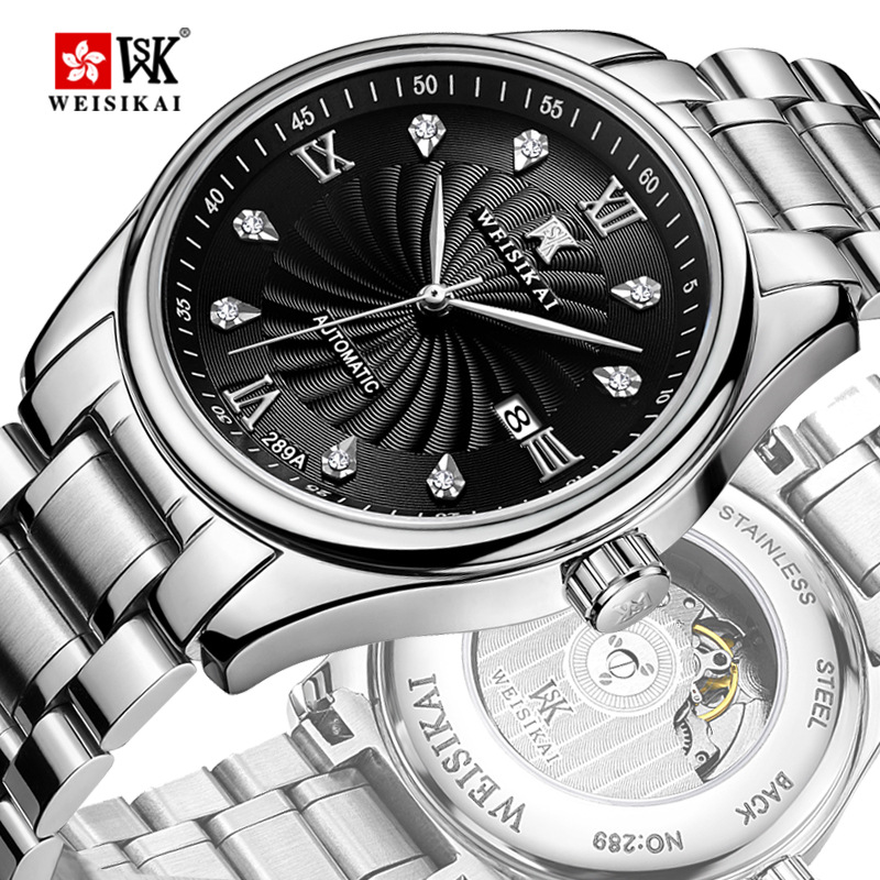 Здесь продается  WEISIKAI New Famous Brand High-end Big Windmill Men Watch Automatic Mechanical Crystal Waterproof Gold Watches Relogios Homens  Часы