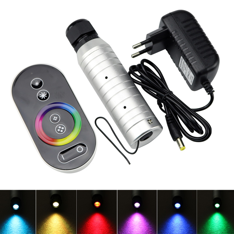New DC12V 6W RGB LED Fiber Optic Engine With RF Remote  For Star Sky Ceiling Decoration