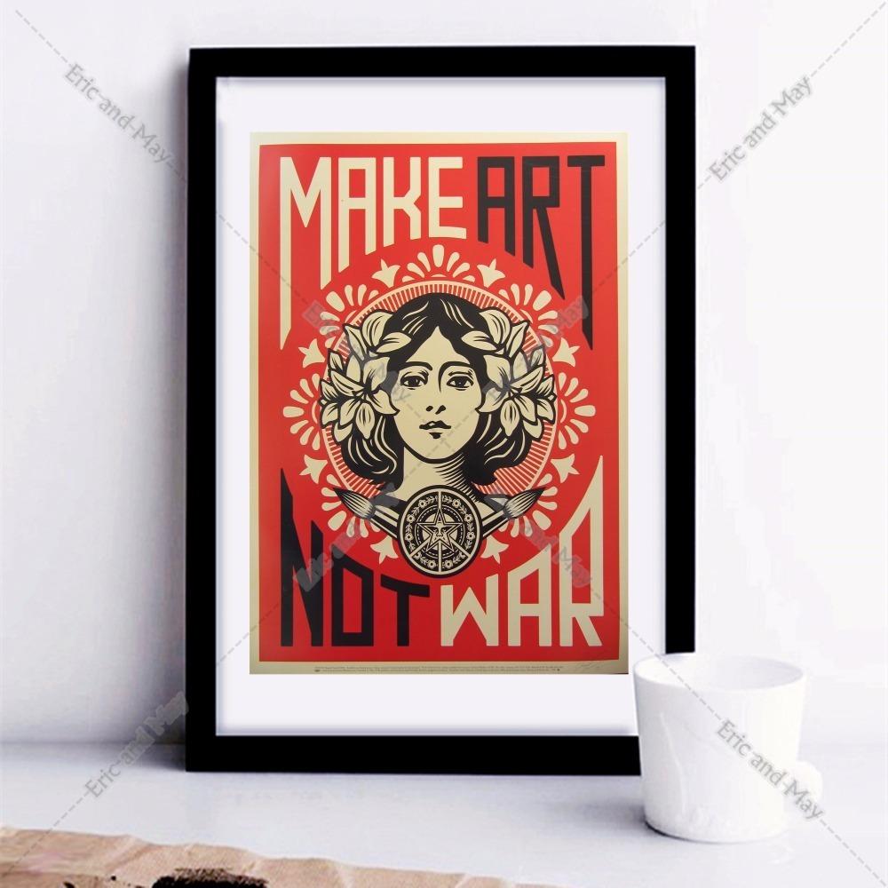 hacer arte no guerra canvas art print poster pintura de pared cuadros para la decoracin de