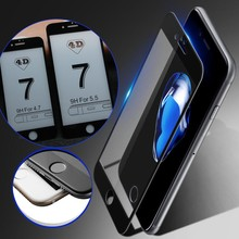 4D(2nd Gen 3D) полное покрытие закаленное стекло для iPhone 6 6S 7 7 Plus экран Взрывозащищенная пленка 9H чехол 6 6S 7 Plus стекло