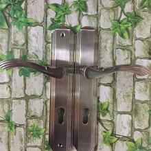 Factory outlets] odd-resistant wood lock door handle lock door lock key copper conductors and copper