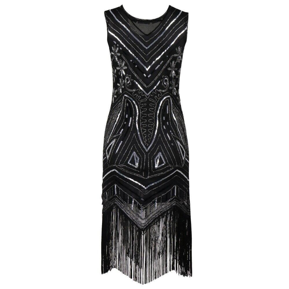 90 s Stil Flapper Kleid Vintage Great Gatsby Charleston Pailletten ...