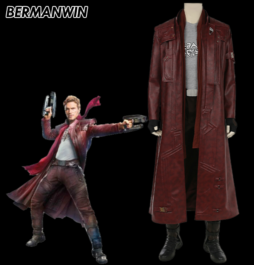 BERMANWIN High Quality Guardians of the Galaxy volume 2 Star Lord costume Peter Quill Star Lord Halloween cosplay costume