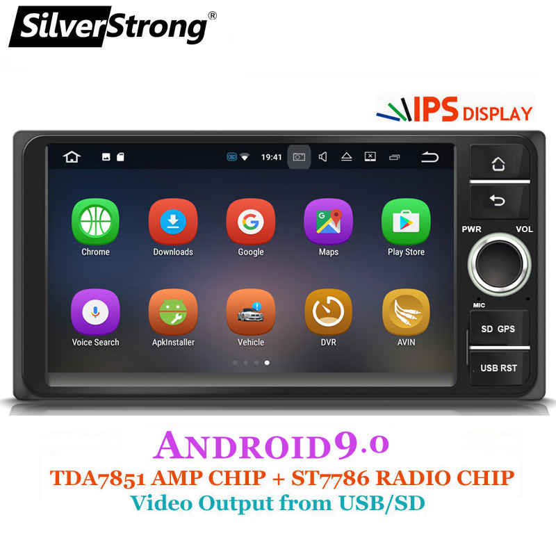 SilverStrong Universal 7inch Android9 0 Radio Car 2din DVD for Corolla e120 For Toyota RAV4 Hilux