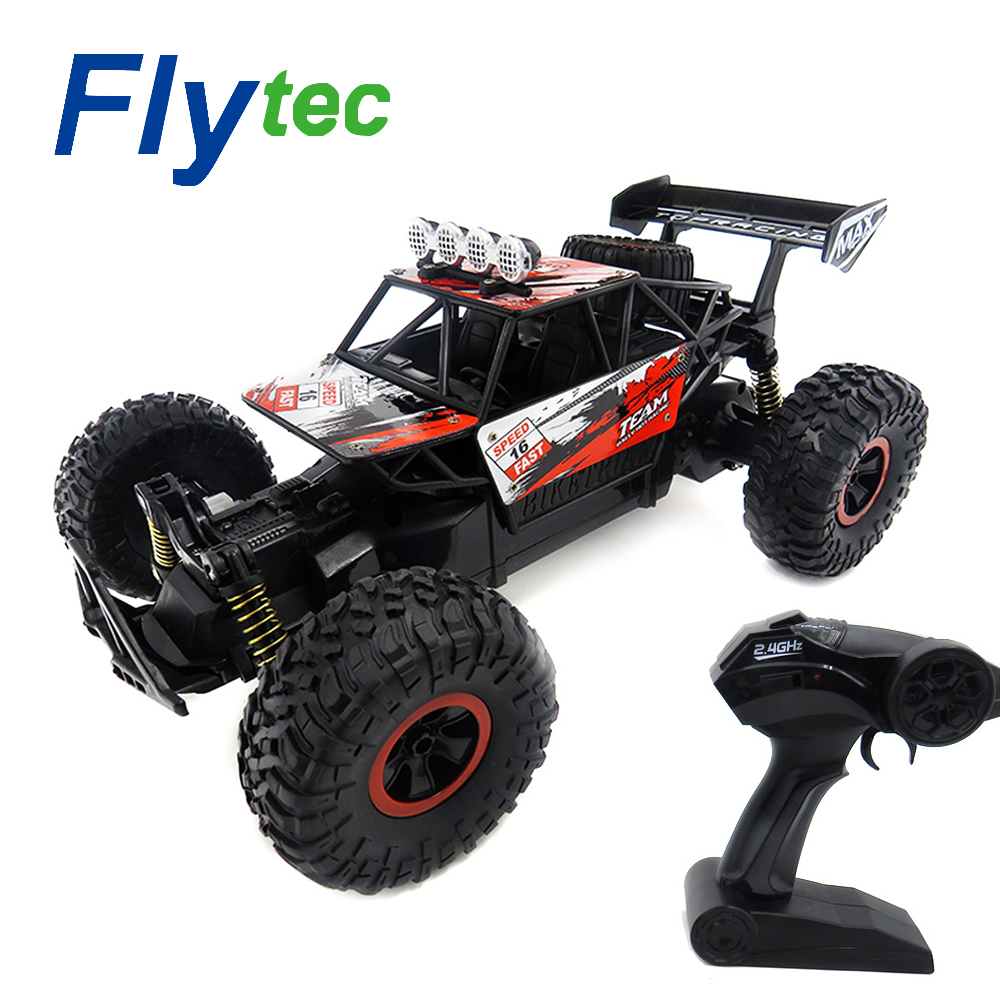 Flytec RC Car 16km/h 1/18 4WD 2.4GHz Independent Suspension Spring RC Off Road Cars Remote Control Toys For Children Gift Toy radio-controlled car