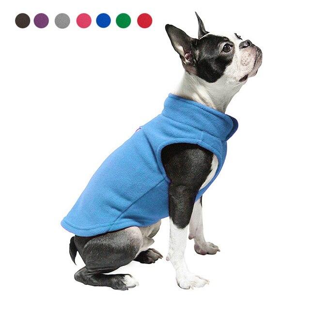 Cane solido Cappotto Giacca In Pile Pet Vestiti Del Cane di Inverno A Buon Merca