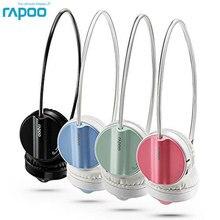 Original rapoo h6020 bluetooth fone de ouvido estéreo sem fio bluetooth 4.1 fone de ouvido modo duplo hi fi