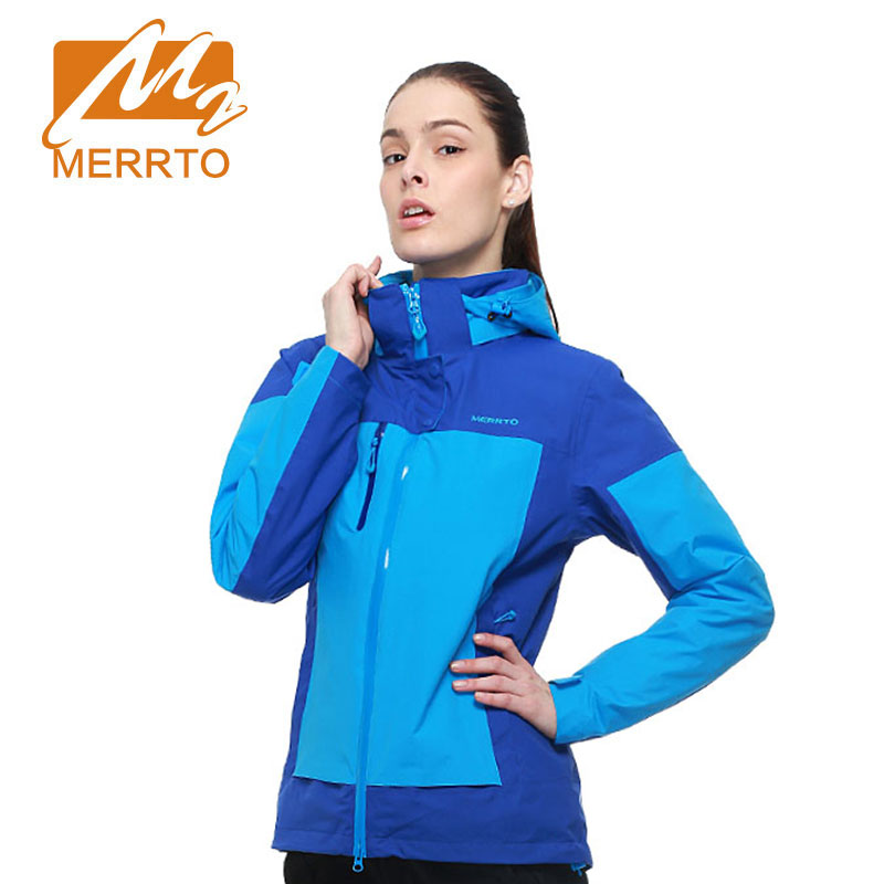 MERRTO New Arrival Women Soft Shell Jackets Waterproof Sports Stand Collar Hoodie Coat Warm Cold Resistan Outdoor Hiking Jackets
