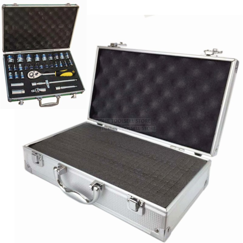 portable-aluminum-tool-box-outdoor-safety-equipment-case-instrument-box-suitcase-hardware-storage-box-with-pre-cut-sponge