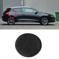 3D Real Carbon Fiber Gas Fuel Cap Door Cover Pad Sticker Decal For VW Scirocco