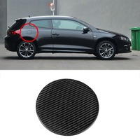 Ipoboo 3D Real Carbon Fiber Gas Fuel Cap Door Cover Pad Sticker Decal For VW Scirocco
