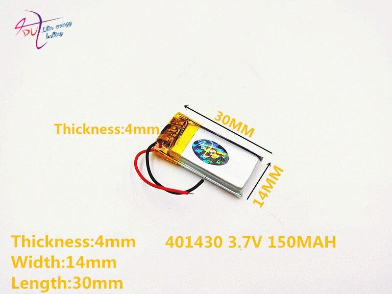 Stromquelle Batterien Liter Energie Batterie Lithium-polymer-batterie 401430 041430 3,7 V 150 Mah 351530 401530 Bluetooth Zelle Batterien Verkauf Mp3 Mp4 Eine VollstäNdige Palette Von Spezifikationen