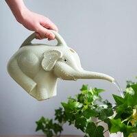 Kawai plastica Elefante naso lungo piante annaffiatoi bambini dispositivo di irrigazione per giardino piante Succulente irrigazione bottiglia