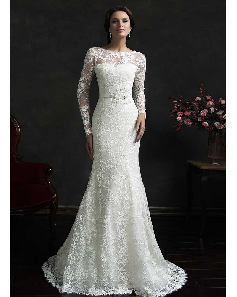 Online Get Cheap Mermaid Long Sleeve Simple Wedding Dress ...