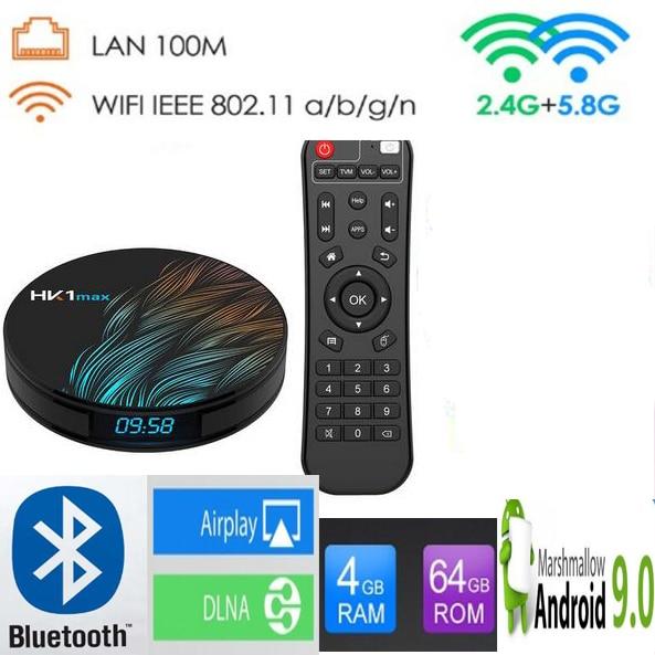 HK1 MAX 10pcs Android 9 0 2GB 4GB 16 32 64GB RK3328 Quad core 2 4G