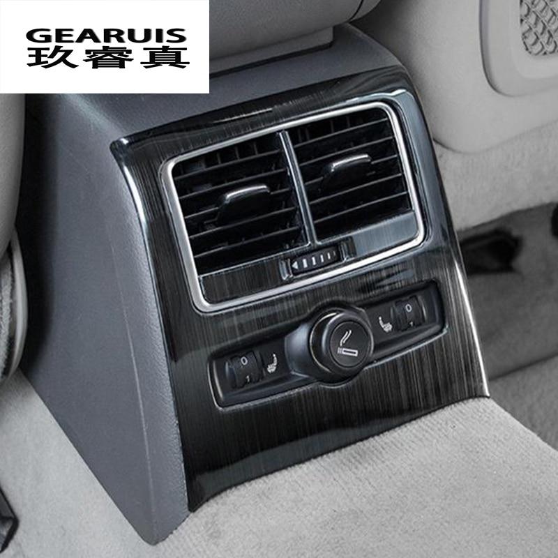 Carbon Fiber Car Side Air Conditioner Vent Frame Sticker Fit for A6 2005-2011 Car Air Condition Vent Sticker