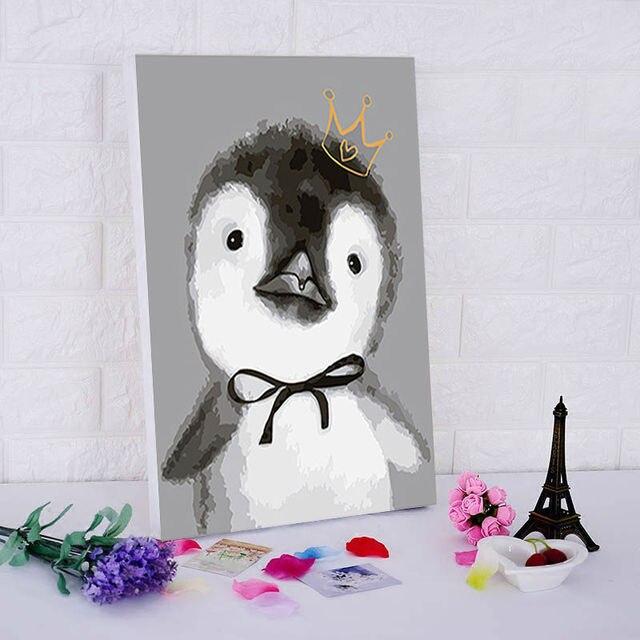 Pintura Al Oleo De Animales De Dibujos Animados Bonitos Para