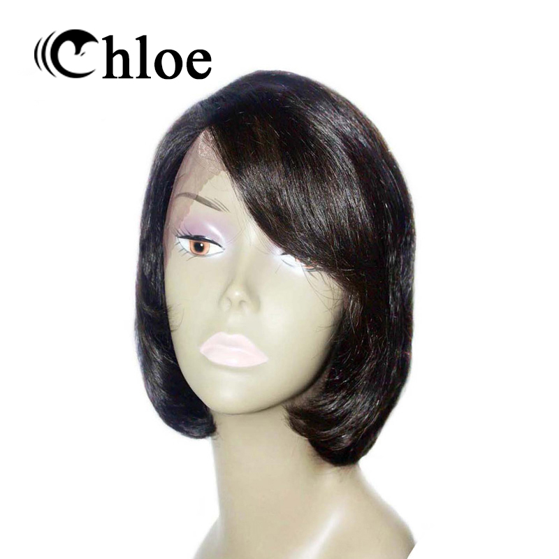 Chloe Brazilian Remy Hair Short Lace Front Human Hair Wigs for Black Women Bob Lace with Baby Hair