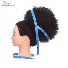 """10 """"коротких курчавых синтетических волос шиньоны с двумя"""