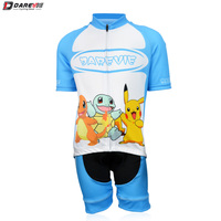 Darevie kids short sleeve jersey shorts bike suits