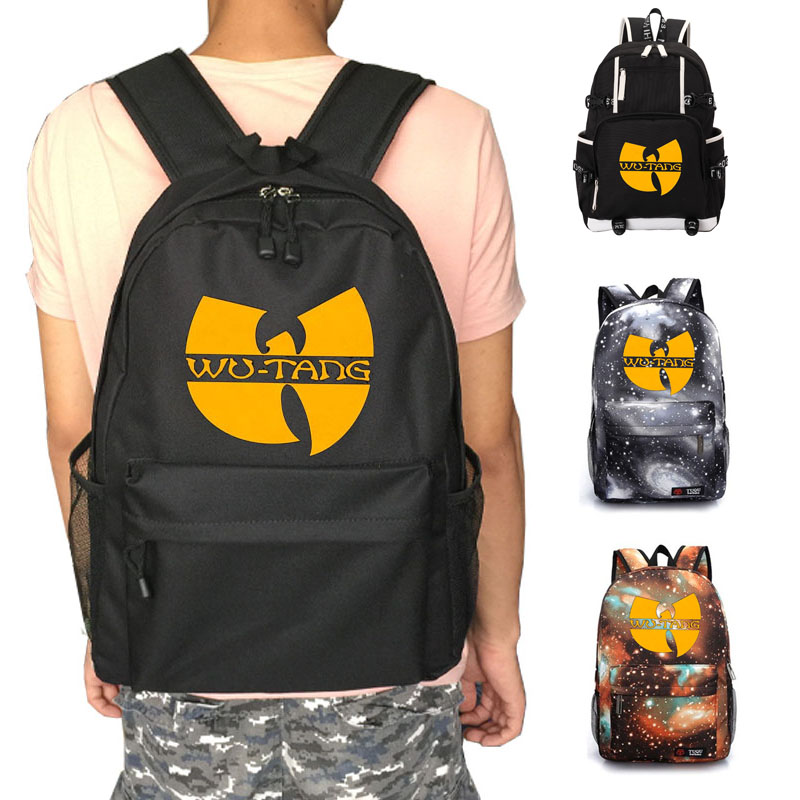 Wu Tang Clan school bag HIP-HOP Rap backpack student school bag Notebook backpack Leisure Daily backpack twenty one pilots backpack for teenage boys girls student school bags children daily bag hip hop backpack with pencil bag