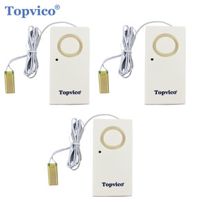 Image 1 - Topvico 3 個漏水検知器センサー漏れアラーム検出 120dB 警告ワイヤレスホームセキュリティ警報システム