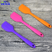 1pc 21cm Silicone Spatula Eco Friendly Baking Tools High Temperature Resistant Silicone Cake Spatula