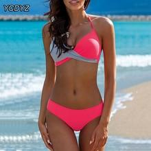 YCDYZ Swimsuit Female Push Up Bikinis Women Plus Size Swimwear Bathing Suit Patchwork Brazilian Tanga Biquini Maillot De Bain