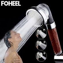 FOHEEL Лейка для душа, ручная лейка, регулируемая, 3 режима, высокое давление, душевая лейка, экономия воды, спа, ванная комната, ручные лейки для душа