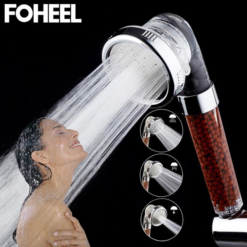 FOHEEL dusche kopf hand dusche einstellbar 3 modus hochdruck dusche kopf wasser sparen SPA bad handheld dusche köpfe