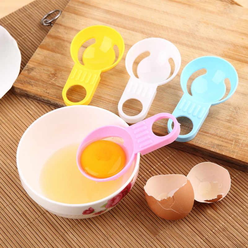 1 adet Yaratıcı Renk Kısa el Yumurta Beyaz Ayırıcı Yumurta Işleme Yumurta Dağıtıcı Mutfak Pişirme Araçları Mutfak Aksesuarları