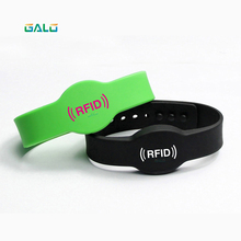 125KHZ ilicone Rubber RFID Wristband for Access Control NFC Bracelet with M1 S50 Chip use for the Lock GALO цена и фото