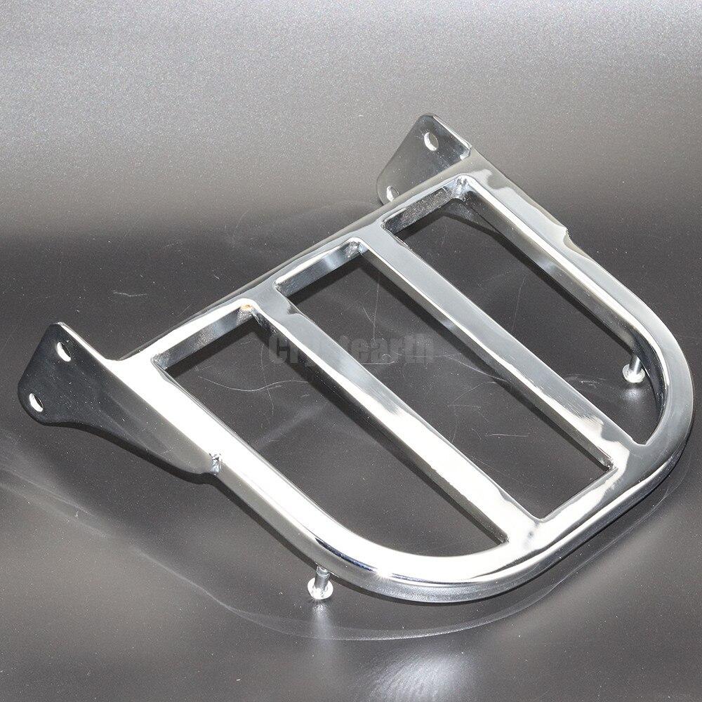 Chrome Rear Sissy Bar Luggage Rack For Suzuki Intruder Volusia VL800 2001 2011 Boulevard M50 2005