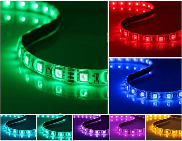 Free shipping adhensive flexible 12v 4pin 7 color for pc computer free shipping adhensive flexible 12v 4pin 7 color for pc computer case neon led light strip aloadofball