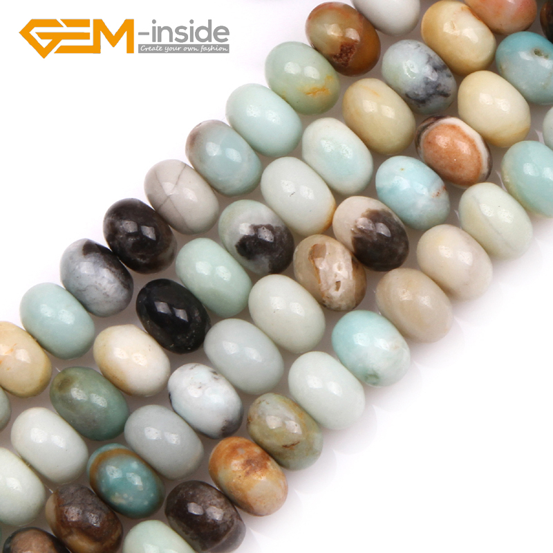 Amazonite Perles Rondes 6 mm Multicolore 10 PCS pierres précieuses Bijoux Making Crafts