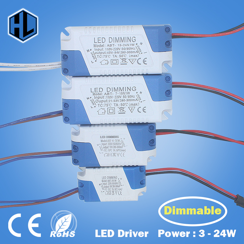 3W-24W Safe Plastic Shell LED Driver Dimmable AC85-265V LightIing Transformer DC3-85V Power Supply Adapter for Led Lamp Bulb 10pcs 3x3w led mr16 driver 3 3w transformer power supply for mr16 12v lamp power 3pcs 3w led high power lamp led free ship page 7