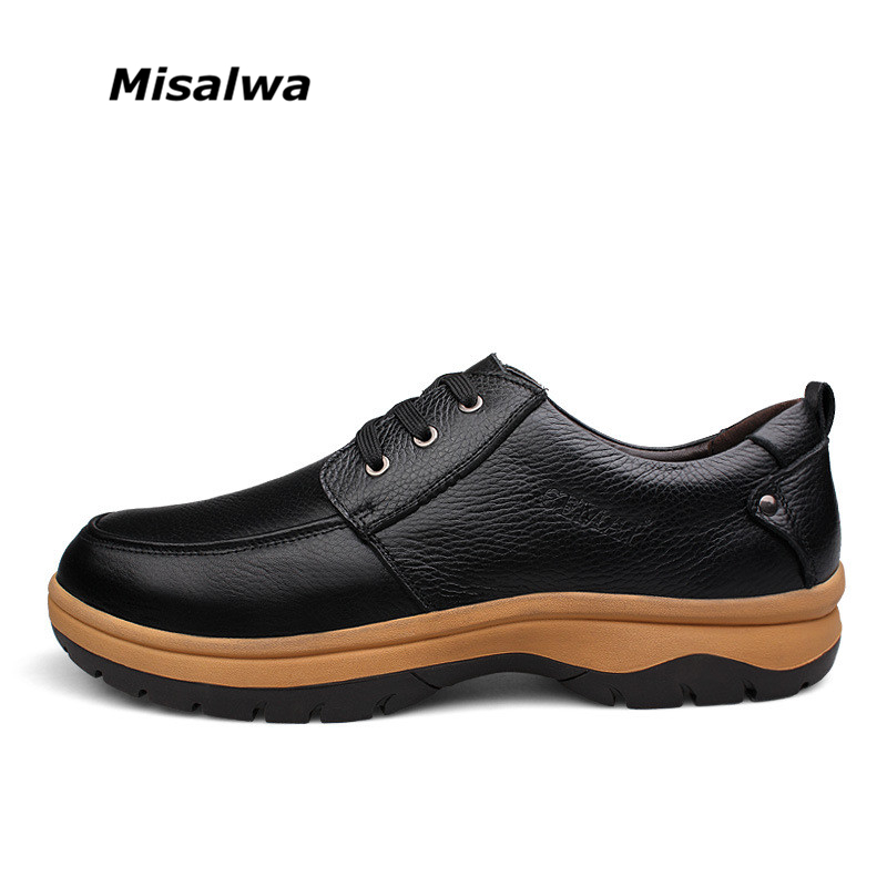 Men Business Casual Genuine Leather Shoes Extra Big Plus
