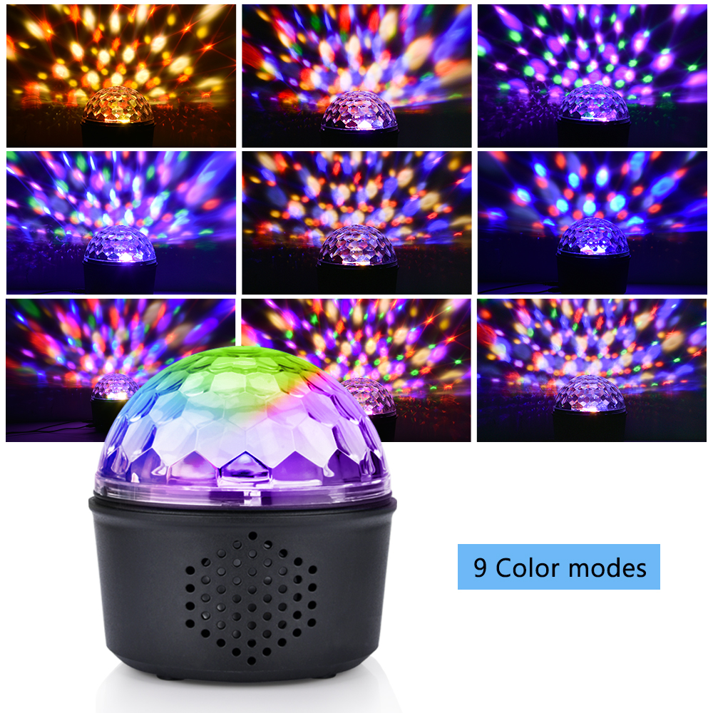 9 Colorful Bluetooth Stage Light with Remote Control Sound Activated Mini Stage RGB Lights Super Bright For KTV DJ Party Show in Stage Lighting Effect from Lights Lighting