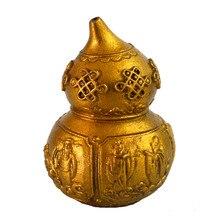 Feng Shui Brass Wu Lou/ Hu Lu Gourd with Eight Immortals