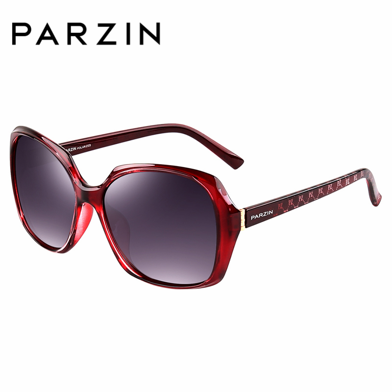 PARZIN Brand Designer Big Frame Sunglasses For Women Fashion Oval Frame Real Polarized Sunglasses Quality Female