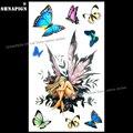 SHNAPIGN Бабочка фея леди временная татуировка боди-арт на руку флэш-тату наклейка s 17*10 см водостойкая стандартная безболезненная наклейка