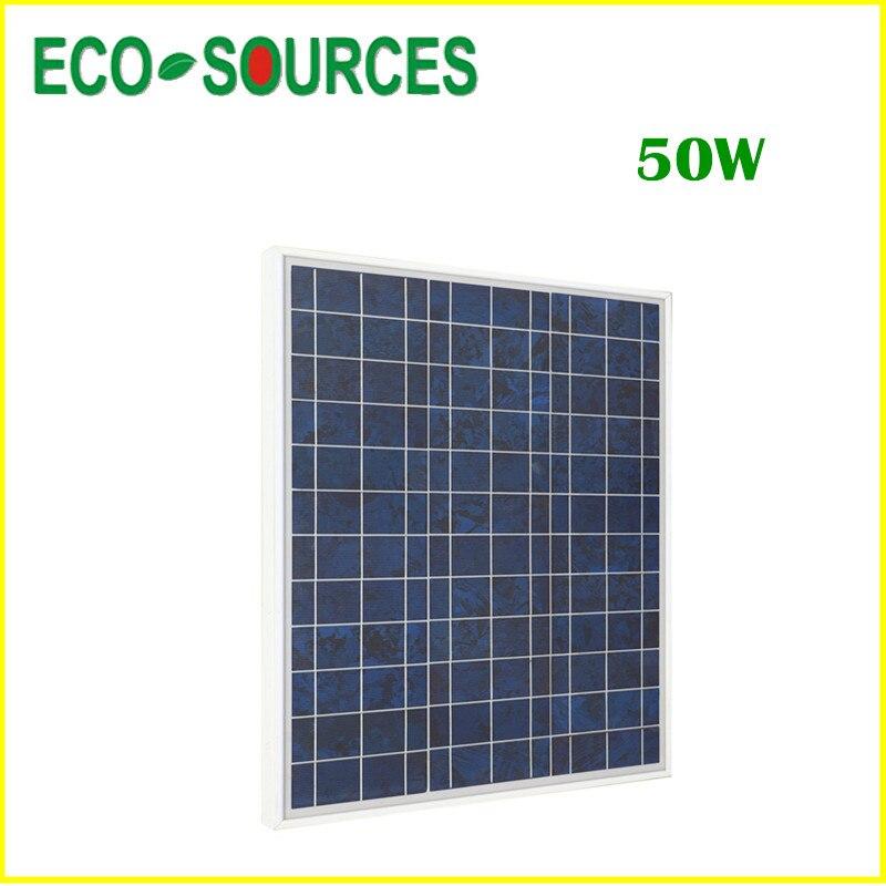 Eu stock, no tax, no duty, 100W-2PCS 50 W 12 V Solar Panel-50W 12V PV Solar Panel, free ship *