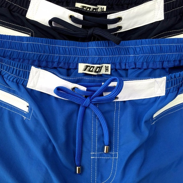 TQQT Men's Shorts Drawstring Inside Trunks Beach Shorts Zipper Pockets Shorts Male Elastic Waist Long Paradeplatz Short 5P0646