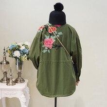 Ethnic Vintage Embroidery Jacket Women Basic Coats Outwear 2017 Autumn Female Oversized Coat Jaqueta Feminina Chaquetas Mujer
