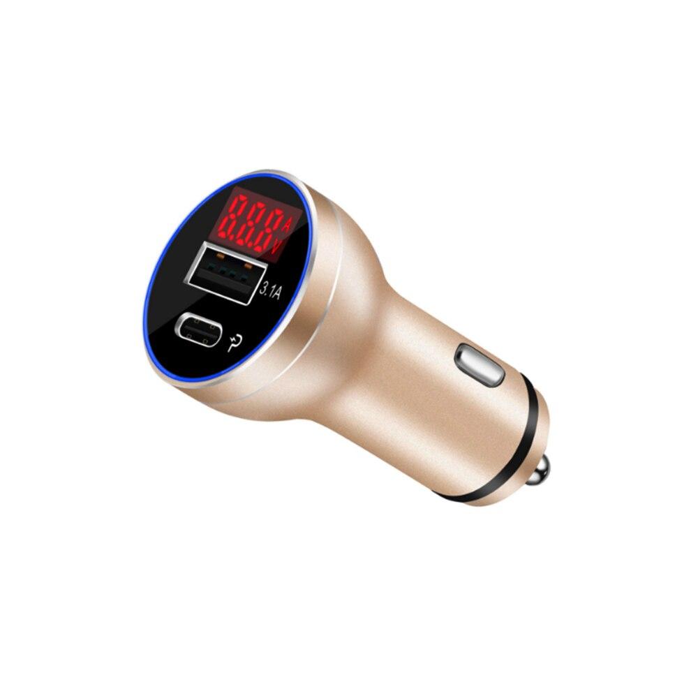 VEHEMO usb type-C QC3.0 Автомобильное устройство для быстрой зарядки автомобильное зарядное устройство Быстрая зарядка MP3 Быстрая зарядка портативный автомобильный адаптер зарядного устройства - Название цвета: 1