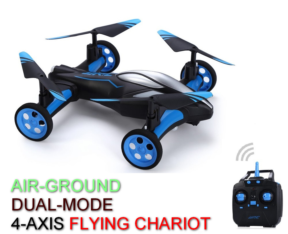 Mini RC Air ground Amphibious Quadcopter With Wheels LED light Headless Mode A key Return Helicopter