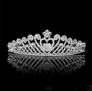 Headpiece Wedding Hair Accessories Tiaras And Quinceanera Crowns Hair Jewelry Tiara Rhinestone Crystal Crown Bridal B15 ABC