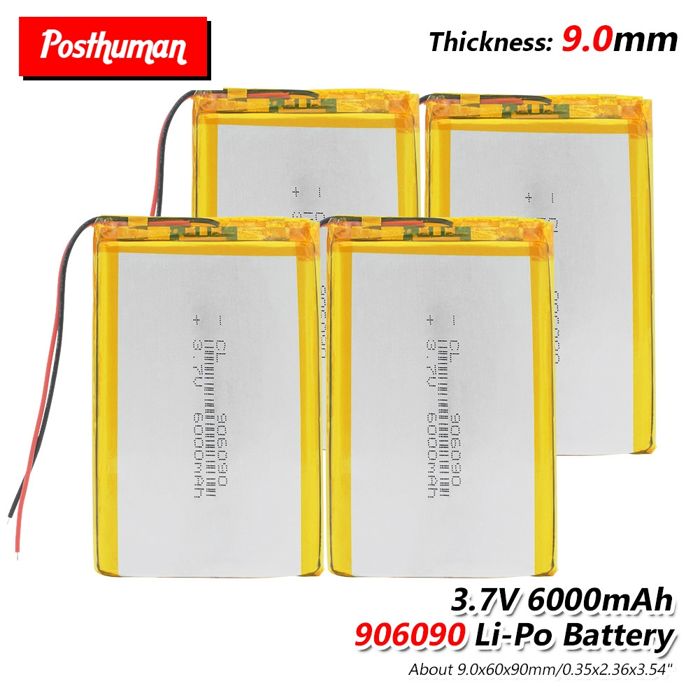 <font><b>3.7V</b></font> <font><b>6000mAh</b></font> <font><b>Lipo</b></font> <font><b>Battery</b></font> 906090 li-ion <font><b>Battery</b></font> Rechargeable For Tablet Dvd Psp Gps Li-Po Lithium Li-polymer <font><b>Battery</b></font> Replacement image