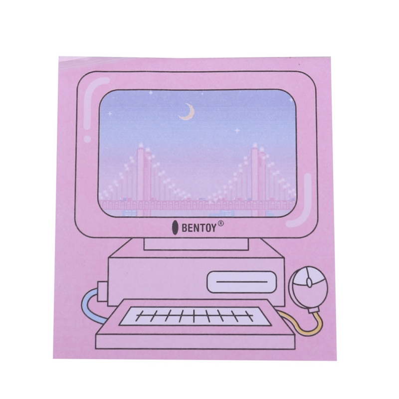 Creative Computer Game Machine Modeling Memo Pad Pink Sticky Notes Memo Notepad Gift Sta ...